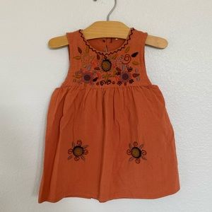 Earth tones embroidered dress